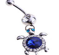 Women's Body Jewelry Navel Rings/Belly Piercing Sterling Silver Simulated Diamond Unique Design Fashion Jewelry Blue Jewelry Daily Casual