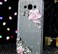 For Samsung Galaxy Case Rhinestone / Transparent Case Back Cover Case Flower Acrylic Samsung A7 / A5