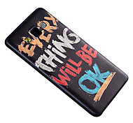 For Samsung Galaxy Case Pattern Case Back Cover Case Word / Phrase TPU Samsung A5