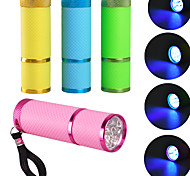 Wholesale sales of portable mini 9LED phototherapy machine UV ultraviolet lamp flashlight fast dry