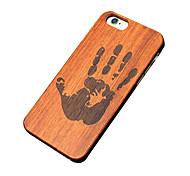 El caso ultra fino de madera derecha impresión de la mano protectora duro de la PC del iphone para el iphone se 5s / iPhone / iPhone 5