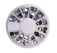 Fashion Women 3D Nail Art Decorations Love Heart Design DIY Glitter Wheel Nail Rhinestones