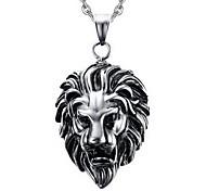 Men's Fashion Punk Style Lion Titanium Pendant for Necklace