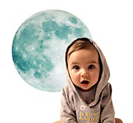 Glowing Moon Wall Stickers Glow In The Dark Moon Wall Art Wallpaper For Children'S Room Home Decor Sticker