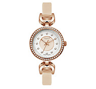 Julius Women Watch  Rhinestone Design Fashion Vogue Leather Belt Quartz Wristwatch JA-846