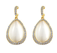 South Korea Large Drop Opal Fashion Earrings