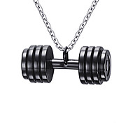 Men's Fashion Barbell Style Steel Pendant for Necklace