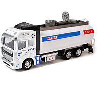 Children's toy car inertia garbage truck 1:42 alloy car model toy car logging (3PCS)