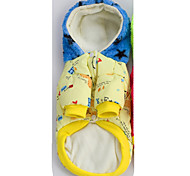 Dog Coat / Hoodie / Clothes/Clothing Red / Yellow Winter Stars