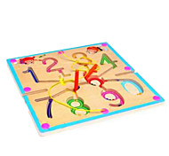 Wooden circular orbit magnetic brush handling maze --0-9 Maze