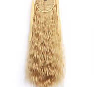 Yellow Deep Wave Lace Wig Corn Hot Ponytails 25
