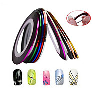 1pcs 2mm 20m Nail Art  Stripe Tape Line Sticker Nail Art Beauty Decoration Tools Random Delivery NC124