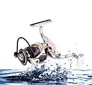 Carretes para pesca spinning / Carrete para pez carpa 5.2:1 12 Rodamientos de bolas IntercambiablePesca de Mar / Pesca de baitcasting /