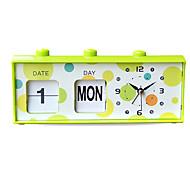 relógio criativo bonito forma alarme mudo (cor aleatória)