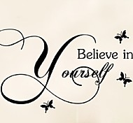 Believe In Yourself Home Decor Creative Quote Wall Decal Decorative Adesivo De Parede Removable Vinyl Wall Sticker