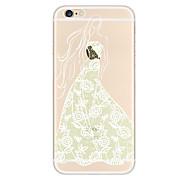 Kakashi la impresión del cordón de la pintura TPU caso suave para el iphone 6s / 6 / 6s más / 6 más (belleza ángel)