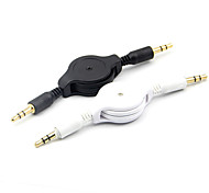 3.5mm macho a cable de audio auxiliar retractable masculino