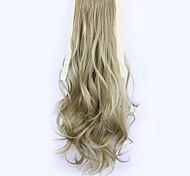 longitud 50 cm de lino fábrica de la venta directa de tipo cola de caballo se unen rizo de pelo cola de caballo (color 16)