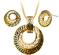 Luxury New 18K Gold Plated Rhinestone Trendy Women Party Jewelry Gift Sale Necklace Earrings Jewelry Sets S20094