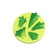 Fonddant Cake Decorating Tools Christmas Tree Silicone Mold for Cupcake Candy Chocolate Soap Clay Fimo Resin