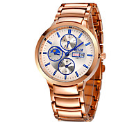 Men's High-grade Rose Gold Alloy Waterproof Calendar Watch Wrist Watch Cool Watch Unique Watch