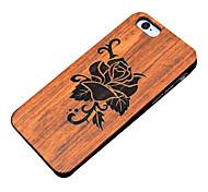 Para Funda iPhone 5 En Relieve Funda Cubierta Trasera Funda Flor Dura Madera Apple iPhone SE/5s/5