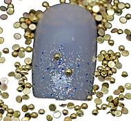 100PCS Half Round Golden Metal Rivet Nail Art Decoration