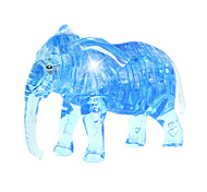 ABS 3D DIY Elephant Crystal Puzzle Animal Educational Toys For Kids Or Adults Blue/Grey