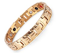Gold Plated Healing Magnetic Therapy Bracelet316L Stainless Steel Chain Bracelet Men's Jjewelry