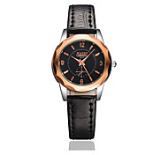 Women's Fashion Watch Water Resistant / Water Proof Casual Watch Quartz Leather Band Black Brown