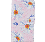 Small Chrysanthemum Pattern PU Leather Material Phone Case for Huawei Ascend P9 Lite/ P9