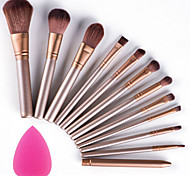 12pcs Makeup Brushes Tool Set Profession Soft Cosmetic Kit Makeup Artist with Beauty Puff Blender Sponge