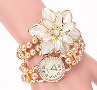 Women's Personalized Flower Pearl Watch Cool Watches Unique Watches