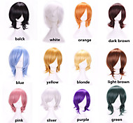 Hot Sale New Stylish Harajuku Anime Cosplay Wigs Heat Resistant Young Short Colors Synthetic Hair Wig For Japanese Anime