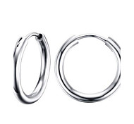 Hoop Earrings Stainless Steel Fashion Circle Silver Jewelry Party Daily Casual 1 pair