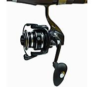 Carretes para pesca spinning 5.2:1 13 Rodamientos de bolas Intercambiable Pesca de Mar Pesca al spinning-DT4000 FDDL