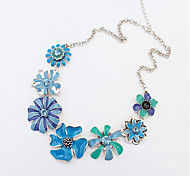 Necklace Pendant Necklaces Jewelry Blue / Orange Alloy Party / Daily / Casual 1pc Gift