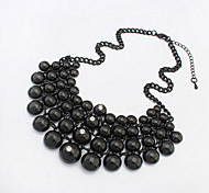 Necklace Pendant Necklaces Jewelry Black Alloy / Rhinestone Party / Daily / Casual 1pc Gift