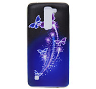 TPU Material Purple Butterfly Pattern Slim Phone Case for LG G5/K7