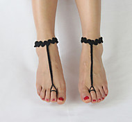 Women's Simple New Style Crochet Barefoot Sandals Nude Shoes Foot Anklet