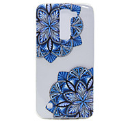 TPU Material Diagonal Flower Pattern Slim Phone Case for LG G5/K7