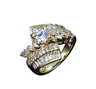 Hot Sale women real zircon inlay party Promise Ring