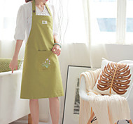 100% Cotton Aprons Kitchen Cooking  Green Color