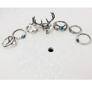 Ring,Midi Rings,Jewelry Fashionable Party / Daily / Casual Silver 1set,Adjustable Women