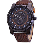 Men's Denim Canvas Compass Quartz Watch Wrist Watch Cool Watch Unique Watch