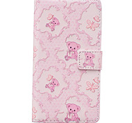 Bear Pattern PU Leather Material Phone Case for Huawei Ascend P9 Lite/ P9