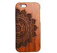 Para Funda iPhone 5 En Relieve Funda Cubierta Trasera Funda Mandala Dura Madera Apple iPhone SE/5s/5