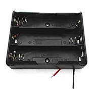 3-Slot 3.7V 18650 Battery Holder Case Box w/ Leads – Black