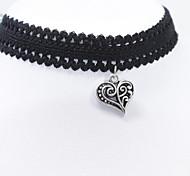 Ожерелье Ожерелья-бархатки Ожерелья-обручи Татуировка Choker Бижутерия Повседневные Тату-дизайн Мода Кружево 1шт Подарок Черный