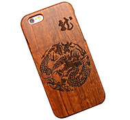 Pear Wooden Chinese Dragon Carving Protective Back Cover Hard iPhone Case for iPhone 6S Plus/iPhone 6 Plus/6s/6